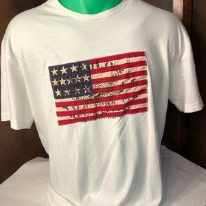 Polo Ralph Lauren Mens Tee American Flag Logo M